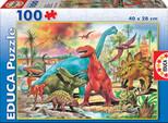 Educa-Puz.100 Dinosaurs 13179, N/A
