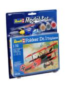 Revell Uçak Model Set Fokker DR.1 Triplane 1:72 64116