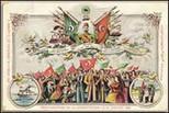 Yadigâr-ı Hürriyet Orlando Carlo Calumeno Koleksiyonu'ndan Meşrutiyet Kartpostalları ve Madalyaları