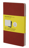 Moleskine Cahier Pocket Squared Notebook Red (Kareli 3'lü Paket)