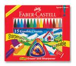 Faber-Castell Silinebilir Mum Boya, 15 Renk - 5281122715