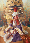 Educa Puzzle  Mahı Nigar Sultan ve Buhurdan ( K. ASLANGER)  14724    1000 LİK