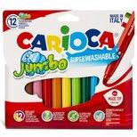 Carioca Jumbo Yıkanabilir Keçeli Boya Kalemi 12'li 40565