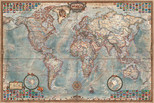 Educa Puzzle   THE WORLD, EXECUTIVE MAP     14827     4000 lik