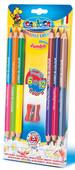 Carioca Çift Renkli Jumbo Kuru Boya Kalemi 6'Lı (12 Renk) (Kalemtraş Hediyeli) 42264