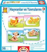 Educa Puzzle Hayvanlar Ve Yavrularını Öğreniyorum