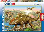 Educa Puzzle 200 Dinozorlar (Karton - Junior) - 15264