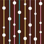 Kahverengi Dots Kart - Blank