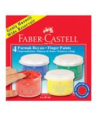 Faber-Castell Parmak Boyası 4 Renk 45 Ml 160412
