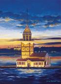 Art Puzzle Kız Kulesi, İstanbul ( Yavuz Bozkurt ) 500'lük 4159