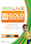 XBOX 360 Live 12 Ay Gold Üyelik Kartı
