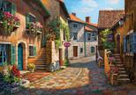 """Art Puzzle Rue De Village   """"Sung Kım"""" 2000 Parça"""