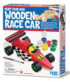 4M Paint Your Own Wooden Race Car/ Ahşap Yarış Arabası 4577