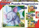 Educa Puzzle 6-9-12-16 Vahşi Hayvanlar 15619