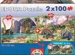 Educa Puzzle Dinozor Dünyasi 15620 2X100 Karton