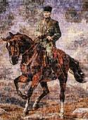 """Art Puzzle Gazi Mustafa Kemal Sakarya İsimli Atiyla """"Pul Kolaj""""  Y.Bozkurt 4406 1000 Lik 1000 Pr"""