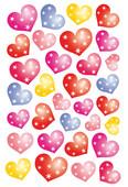 Herma Çocuk Etiketleri Noktalı Kalp 3256