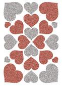 Herma Çocuk Etiketleri Işıltılı Kalpler 6387