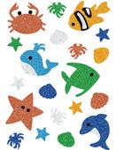 Herma Çocuk Etiketleri Parıldayan Sualtı Canlıları 3274