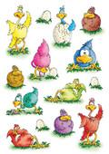 Herma Çocuk Etiketleri Sevimli Tavuklar 3249