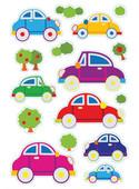 Herma Çocuk Etiketleri Renkli Arabalar 3244