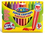 Carioca Plastello Jumbo Üçgen Yıkanabilir Pastel Boya Kalemi 12'li (Uzun Boy) 42671
