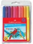 Faber-Castell Fiesta Keçeli Kalem, 20 Li Poşet - 5068330450