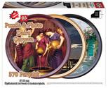 Daire Puzzle Çerçeve - 2.Model - Siyah 4991  570 Parça Saat Puzzle Çerçevesi 4991