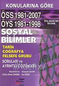 Konularına Göre ÖSS 1981-2007 ÖYS 1981-1998 Sosyal Bilimler