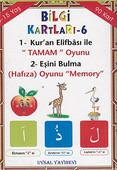 Bilgi Kartları 6 - 1. Kur'an Elifbası ile Tamam Oyunu, 2. Eşini Bulma (Hafıza) Oyunu Memory