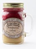 Strawberry/Cream Büyük Kavanoz Mum SIC1-SC