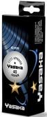 Yasaka 3'lü Sarı 1 Yıldız Masa Tenis Topu 40 mm