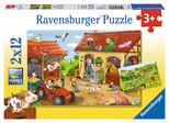 Ravensburger Puzzle Çiftlikte Çalışmak 2x12 Parça 75607