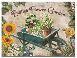 Nostalgic Art English Flower Garden Blue Barrow Magnet 14266