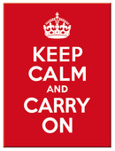 Nostalgic Art Keep Calm and Carry On Magnet 14291