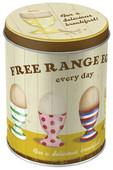 Nostalgic Art Free Range Eggs Yuvarlak Teneke Saklama Kutusu 30505
