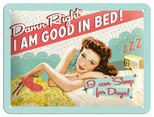 Nostalgic Art Good in Bed Metal Kabartmalı Duvar Panosu 26104