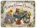 Nostalgic Art English Flower Garden Metal Kabartmalı Duvar Panosu 26131