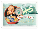 Nostalgic Art A clean House is a Sign of a Wasted Life Metal Kabartmalı Duvar Panosu 26139