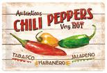 Nostalgic Art Chili Peppers Metal Kabartmalı Duvar Panosu 22186