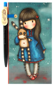 Santoro Gorjuss Jotter With Slim Pen - Hush Little Bunny 312Gj07