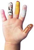 NPW Finger Farms / Çiftlik Hayvanları Parmak Stickerları W8050