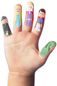 NPW Finger Fairy / Peri Masalı Parmak Stickerları W8067