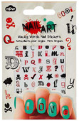 NPW Nail Art Sticker Wacky Words / Sticker Harfler Tırnak Süsü NP9323