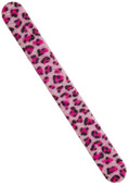 NPW 1Pc Flocked Nail Files Pink / Törpü Pembe Leopar NP6483