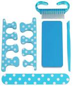 NPW Blue Polka Dot Nail Care Kit / Tırnak Bakım Kiti Mavi Puantiyel NP7235
