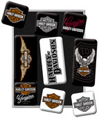 N.Art.Magnet Harley D.Logo Set(9 pa, N/A