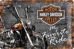 Nostalgic Art Harley Davidson Metal Kabartmalı Duvar Panosu (20x30 cm) 22174