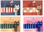Morning Glory Vintage Label Çıtçıt Dosya Cats - 1307