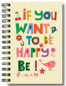 Defter Lovely If You Want To Be Happy, Be - 64183-3